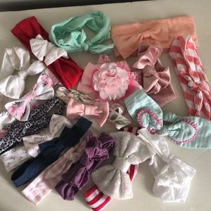 Other - Baby Girl Bow/Headband Lot